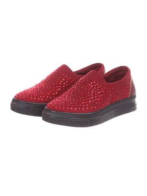 Туфлі бордові | 4904857
