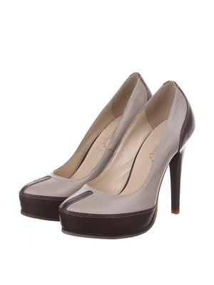Туфли бежево-коричневые | 4905108