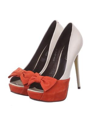 Туфлі двоколірні | 4905110