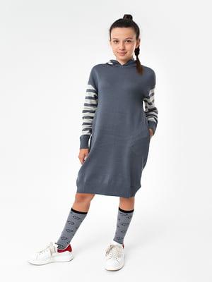 Сукня кольору антрацит | 4907845