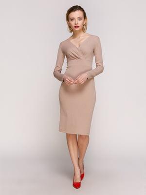 Платье бежевое | 4902465