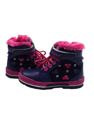 Ботинки сине-розовые | 3998236
