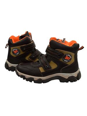 Ботинки черно-коричневые   3998248