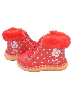 Пинетки-ботинки красные | 3998253