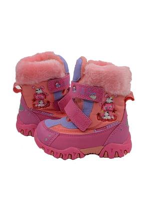 Ботинки малинового цвета | 3998277