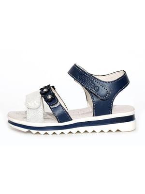 Сандалії синьо-білі | 4908391