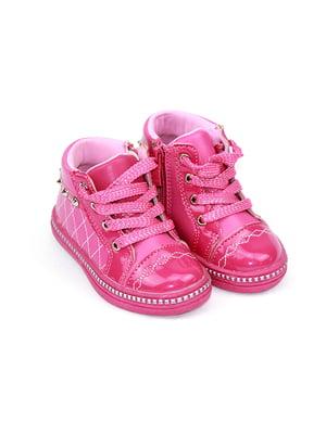 Ботинки малинового цвета   4908493