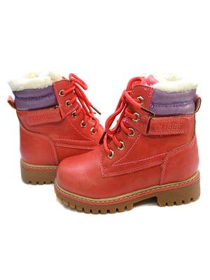 Ботинки светло-красные   4908505