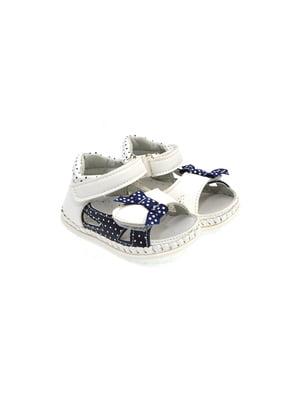 Пинетки-сандалии бело-синие | 4908985