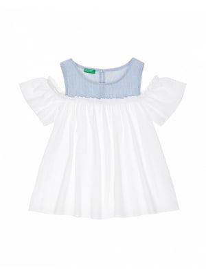 Блуза двоколірна | 4864895