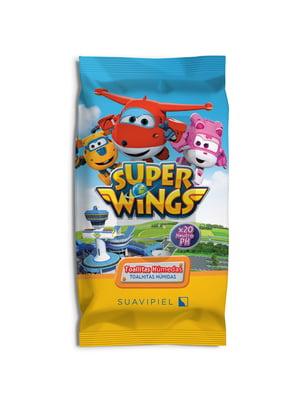 Дитячі вологі серветки Super Wings (20 шт) | 4908323