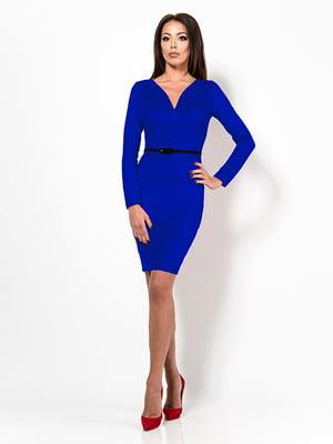 Платье цвета электрик   4910790