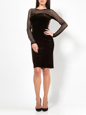 Платье коричневое   4910809