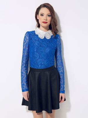 Блуза цвета электрик   4910996