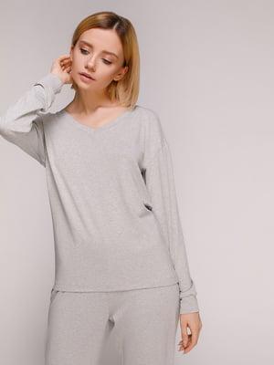 Пуловер светло-серый | 4906688