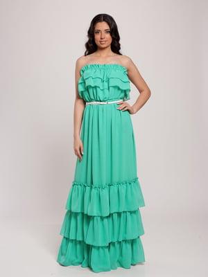 Платье бирюзовое   4910692