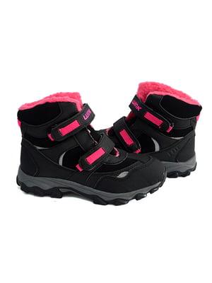 Ботинки черно-розовые | 4908492