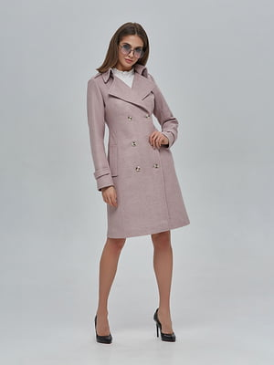 Пальто цвета пудры | 4912883
