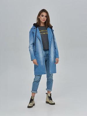 Плащ джинсовый синий | 4912897