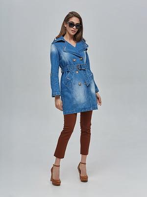 Плащ джинсовый синий | 4912899
