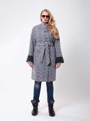 Пальто серо-черное | 4910211