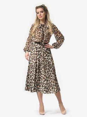 Сукня в леопардовий принт | 4913324
