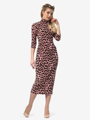Сукня рожева в леопардовий принт   4913328
