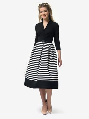 Сукня чорна в смужку | 4913331