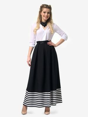 Спідниця чорна в білу смужку | 4913333