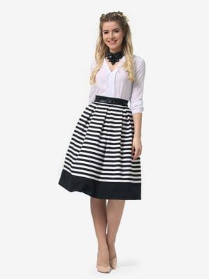 Спідниця чорна в білу смужку | 4913335