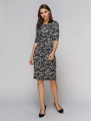 Сукня чорна в принт | 4907033