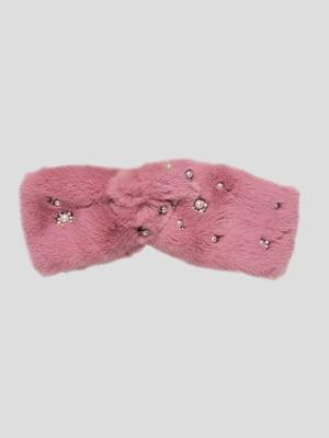 Пов'язка на голову рожева | 4874322
