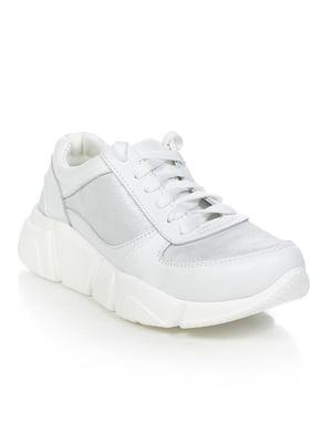 Кросівки біло-сріблясті | 4912356