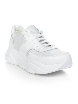 Кросівки біло-сріблясті | 4912358