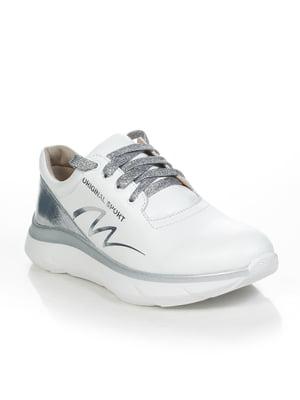 Кроссовки бело-серебристые | 4892073