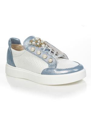 Кеды бело-голубые | 4892046
