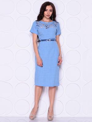Платье голубого цвета   4914284