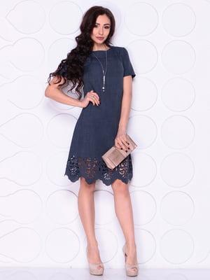 Платье темно-синего цвета | 4914286