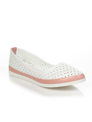 Балетки біло-рожеві | 4892024