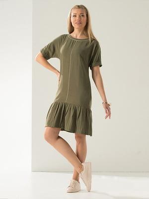 Сукня кольору хакі | 4224130