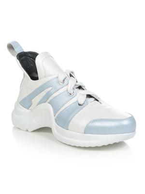 Кроссовки бело-голубые | 4910953