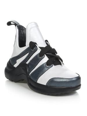 Кроссовки бело-серые | 4910951