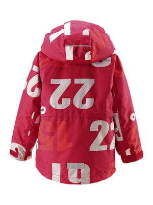 Куртка красная в принт | 4856419