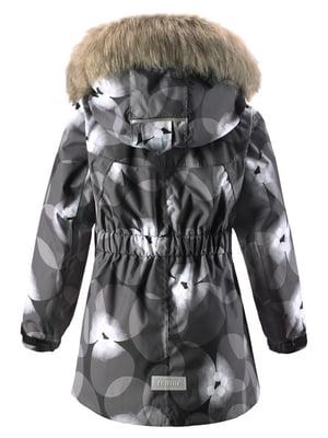 Куртка черная в принт | 4856426