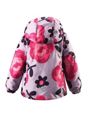 Куртка сиреневая в цветочный принт | 4856427