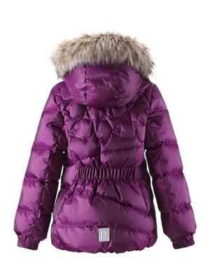 Куртка-пуховик фіолетова   4856435