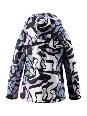Куртка светло-розовая в принт | 4856449