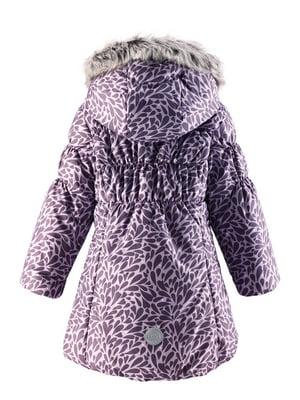 Куртка фіолетова в принт | 4856474