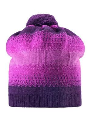 Шапка фиолетовая с орнаментом | 4856497
