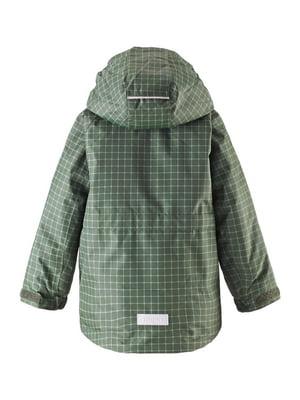 Куртка зелена в клітинку | 4856542